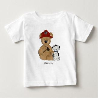 Camiseta del peluche del bombero playera