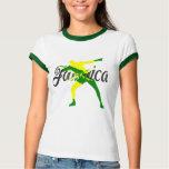 Camiseta del perno de Jamaica de las mujeres