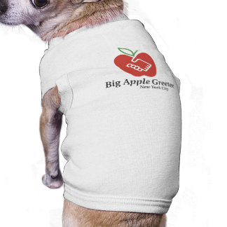 Camiseta del perrito Big Apple Greeter, Inc. Ropa Macota