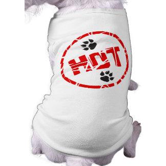 Camiseta del perrito caliente playera sin mangas para perro