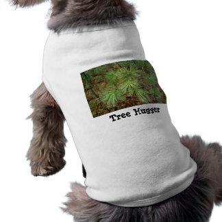 Camiseta del perrito de Hugger del árbol Camiseta De Mascota