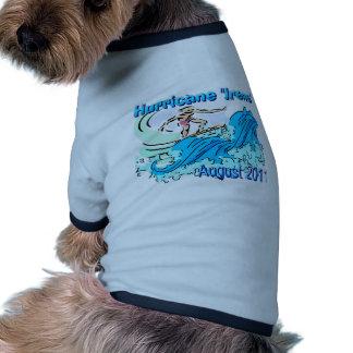 "Camiseta del perrito de ""Irene"" del huracán Ropa Perro"