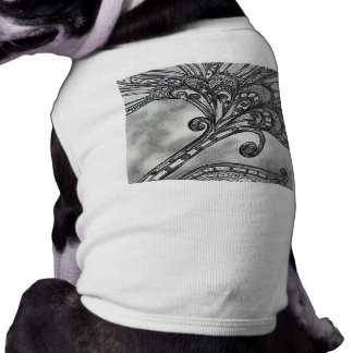 Camiseta del perrito de la flor 4 del espacio del playera sin mangas para perro
