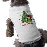 """Camiseta del perrito de Navidad del chica de Hula Camisas De Perritos"