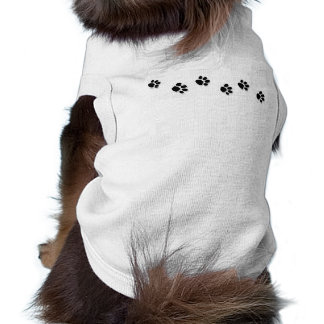 Camiseta del perrito de Pawprints Playera Sin Mangas Para Perro