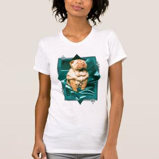 Camiseta del perrito de Shar-pei Poleras