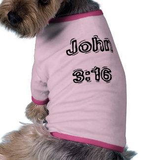 Camiseta del perrito del 3 16 de Juan Ropa Perro