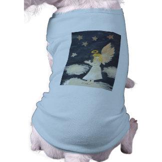 Camiseta del perrito del ángel playera sin mangas para perro