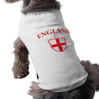 Camiseta del perrito del emblema de Inglaterra Camisas De Mascota