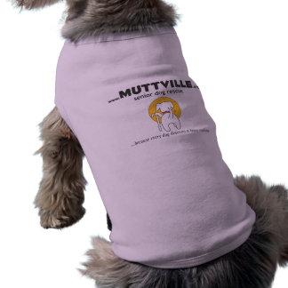 Camiseta del perrito del logotipo de MUTTVILLE Playera Sin Mangas Para Perro
