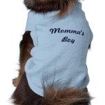 Camiseta del perrito del muchacho de Momma Camisetas De Mascota