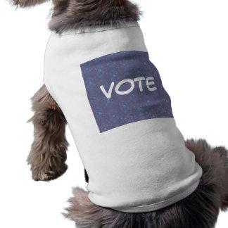 Camiseta del perrito del perro del voto camisetas mascota