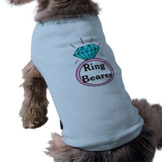 Camiseta del perrito del portador del anillo de playera sin mangas para perro