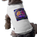 Camiseta del perrito del signo de la paz ropa perro