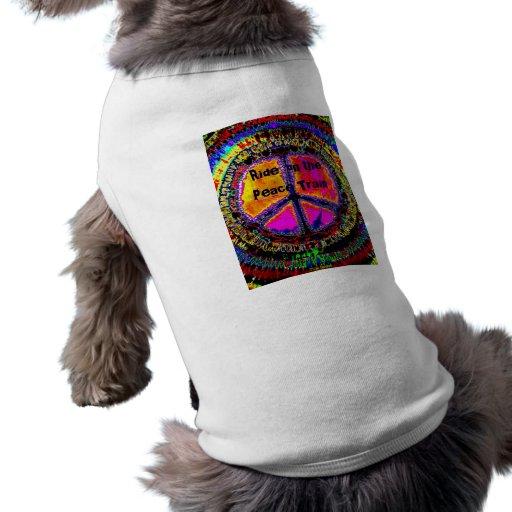 Camiseta del perrito del signo de la paz camisas de mascota
