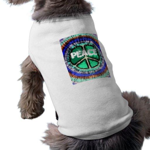 Camiseta del perrito del signo de la paz ropa para mascota