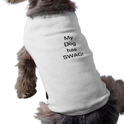¡Camiseta del perrito para el Swag! Camisetas Mascota