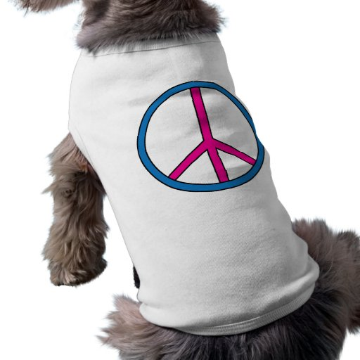 Camiseta del perrito - signo de la paz camisa de mascota