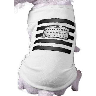 Camiseta del perro - camisa de la prisión playera sin mangas para perro