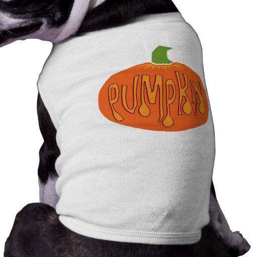 Camiseta del perro de Halloween de la calabaza Camiseta De Perrito