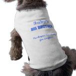 Camiseta del perro de hermano mayor del bebé playera sin mangas para perro