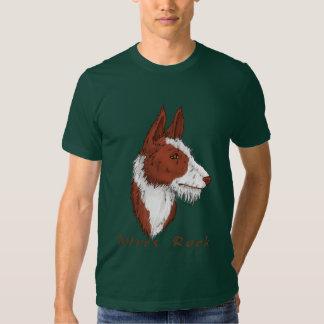 Camiseta del perro de Ibizan de la roca de los Playeras