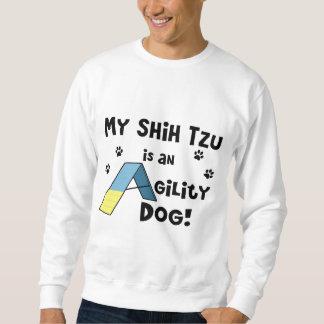 Camiseta del perro de la agilidad de Shih Tzu Sudadera