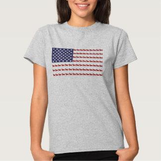 Camiseta del perro de la bandera americana camisas