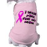 Camiseta del perro de la conciencia del cáncer de  ropa de perro