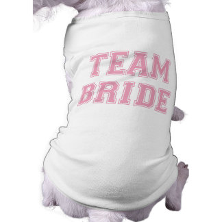 Camiseta del perro de la novia del equipo playera sin mangas para perro