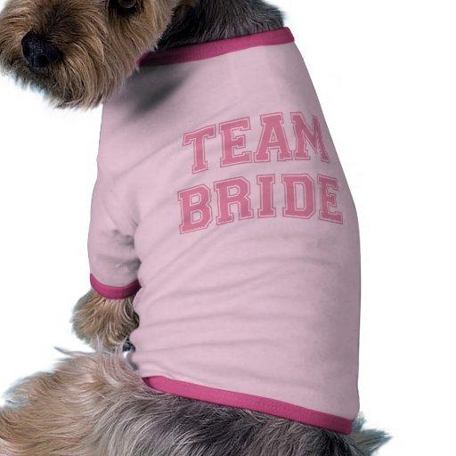Camiseta del perro de la novia del equipo camisa de mascota