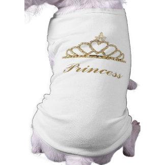 Camiseta del perro de la princesa camisa de perro