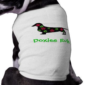 Camiseta del perro de la regla de los Doxies Playera Sin Mangas Para Perro