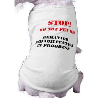 Camiseta del perro de la rehabilitación del compor playera sin mangas para perro