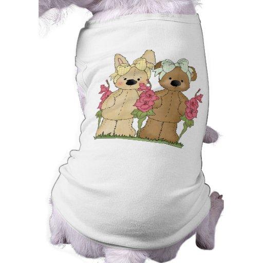 Camiseta del perro de los amigos de la primavera camisa de perro