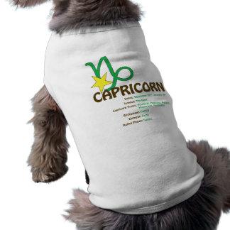 Camiseta del perro de los rasgos del Capricornio Playera Sin Mangas Para Perro