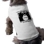 Camiseta del perro de Munkey de la resaca con deci Camisetas De Mascota