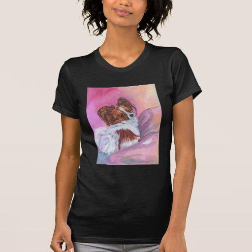 Camiseta del perro de Papillon