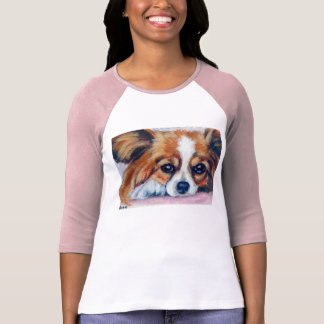 Camiseta del perro de Papillon Poleras