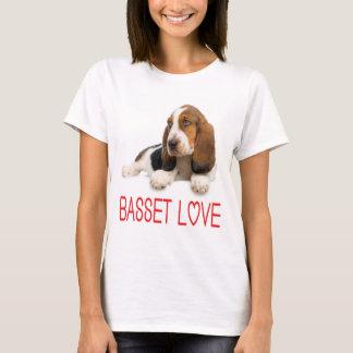 Camiseta del perro de perrito de Basset Hound del