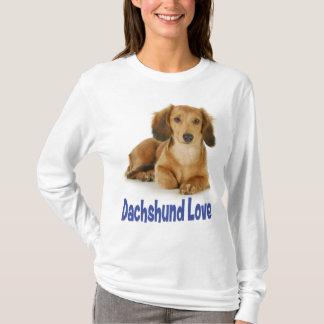 Camiseta del perro de perrito del Dachshund del