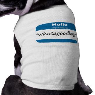 Camiseta del perro de Whosagoodboy Playera Sin Mangas Para Perro