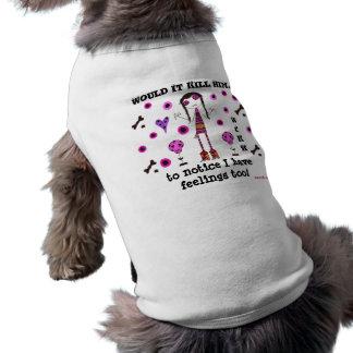 ¡Camiseta del perro de WIKH tengo sensaciones tamb Camiseta De Perrito