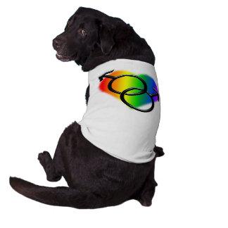Camiseta del perro del amor LGBT del arco iris de  Camisa De Perro