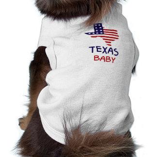 Camiseta del perro del bebé de Tejas Playera Sin Mangas Para Perro