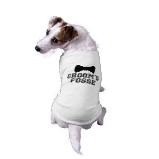 Camiseta del perro del boda de la pajarita de la p playera sin mangas para perro