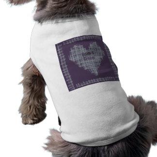 Camiseta del perro del boda de la pizarra y del añ camisetas mascota
