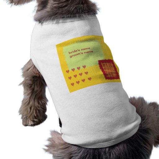 Camiseta del perro del boda del limón del chile playera sin mangas para perro