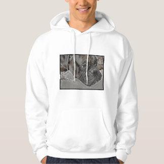 Camiseta del perro del boxeador jersey con capucha