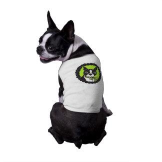 Camiseta del perro del camafeo de Boston Terrier Ropa Macota